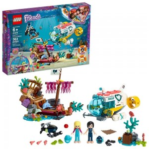 LEGO Friends Dolphins Rescue Mission 41378 Sea Life Building Kit with Toy Submarine and Sea Creatures - Sale