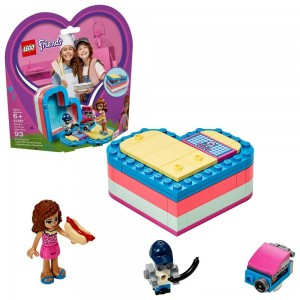 LEGO Friends Olivia's Summer Heart Box 41387 Portable Toy Mini Doll 93pc - Sale